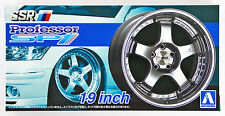 Aoshima 52532 Tuned Parts 14 1/24 SSR PROFESSOR SP1 19inch Tire & Wheel Set