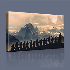 LORD OF THE RINGS - THE HOBBIT ICONIC CANVAS ART PRINT PICTURE - Art Williams #5
