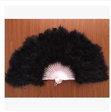 Black Feather Fan/Marabou Fan/Belly Dance Fan/Decoration Fan/Wedding Fan(GA,USA)