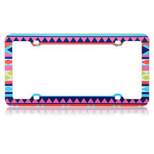 Aztec Tribal License Plate Plastic Frame Bracket Cover forAuto Car Truck Van SUV