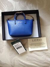 Lauren Ralph Lauren Newbury Blue mini bag key charm key fob Brand New With Tag