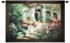 Scented Steps Tapestry Wall Hanging Made in USA Vail Oxley Floral Garden New