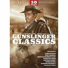 Gunslinger Classic 50 Movie Pack (DVD, 2005, 12-Disc Set) BRAND NEW SEALED!!!
