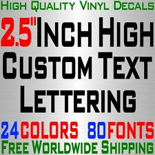 Personalized Custom Text Name Vinyl Decal Sticker Car Wall Glas Lettering Number