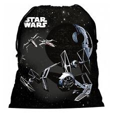Star Wars Shoe Bag Drawstring Gym Dance Swim Travel Boys Tie Fighters Black