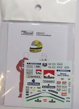 1/18 A. Senna Figure Decal McLaren for Minichamps