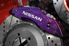 x6 Premium Nissan Logo Vinyl Brake Caliper Decals - Stickers