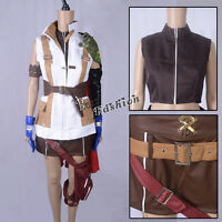 "Final Fantasy XIII 13"" Lightning Cosplay Costume Sleeveless Anime Outfit"