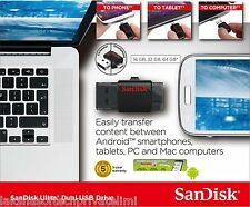 SanDisk 16GB Ultra Dual USB Drive 3.0+micro USB OTG-Enabled Android Smart Phones