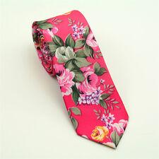 Hombre Moda Ajustado Nupcial Novio Fiesta Corbata Estampado Lazo Floral
