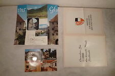 altes Faltprospekt und Ansichtskarte von Glurns, Haus Grafair, Familie Ortler