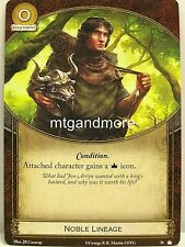 A Game of Thrones 2.0 LCG - 1x Noble Lineage  #036 - Base Set - Second Edition