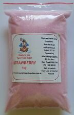 Fairy Floss Strawberry Sugar,Pre Mixed 1kg Fairy Floss Machine, Cotton Candy