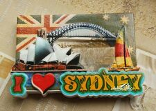 I Love Sydney, Australia Tourist Travel Souvenir Resin Fridge Magnet Craft