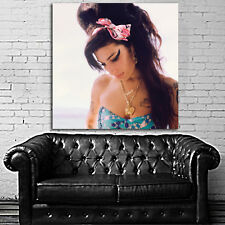 Poster Mural Amy Winehouse 40x40 in (100x100 cm) on Adhesive Vinyl