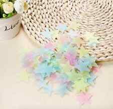 100pcs Home Wall DIY Stars Stickers Glow In The Dark Kids Bedroom Decor Decal