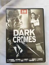 DARK CRIMES CLASSIC FEATURES 50 MOVIE SET 12 DVD Set Film Noir