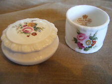 Coalport ''Ludlow'' Pill Box and Napkin Ring
