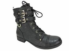 G By Guess Women's Bell Lace-Up Combat Boots Black Size 10 M