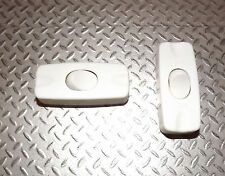 pack of 2x 2A SPST INLINE TABLE LAMP SWITCH WHITE 12V DC OR 230V AC SINGLE POLE