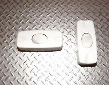 Pack de 2x 2A SPST en Línea Lámpara de mesa switch blanco 12V DC o 230V AC unipolar