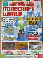 Minecraft World Issue 7 Superhero Builds Weapons Story Mode Build a Base Potions