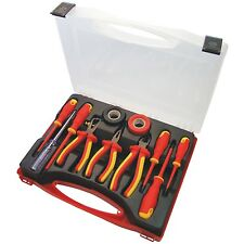 11pc Electrical Electricians Tool Kit 1000V AC 1500V DC Screwdriver Pliers Tape