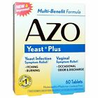 AZO Natural Yeast Prevention 60 Tablets, Homeopathic Yeast Infection Treatment