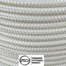 5.5M OF 6MM WHITE Waveline 16 Plait Polyester Cover with Dyneema® Rope