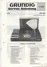 Grundig Service Anleitung Manual RPC 1500  B525