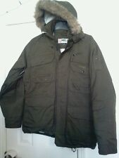 HELIX Hooded Insulated Snowboard Jacket, mens Large, dark green