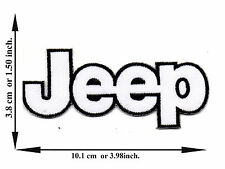 White Jeep Off Road 4x4 Car Automobile Pick-Up Logo Applique Iron on Patch Sew