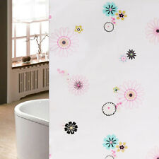 Waterproof Frosted Colorful Flowers Bedroom Bathroom Window Glass Film Stickers