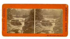 Ithaca NY - FIFTH FALL CASCADE & BRIDGE -Peoples Series Stereoview