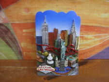 TOURIST SOUVENIR Polyresin 3D Fridge Magnet --- LAS VEGAS, NEVADA, US