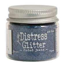 Tim Holtz   Distress Glitter 18gm jar  FADED JEANS  Blue, Denim
