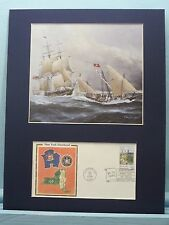 The USS New York, a 36 gun frigate, & First Day Cover honoring New York State