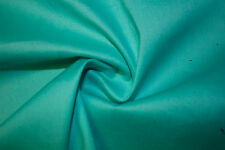 Turquoise Poplin 97% Cotton 3% Lycra Spandex Stretch Woven Apparel Fabric BTY