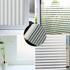 45x150cm Home Office Privacy Frosted Glass Window Film Striped Shutters Sticker