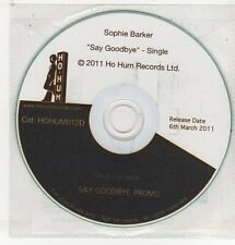 (ET673) Sophie Barker, Say Goodbye - 2011 DJ CD