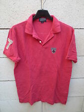 Polo jeans RALPH LAUREN rouge clair USA n°6 67 broderie coton shirt S