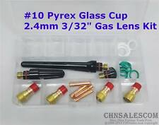 23 pcs TIG Welding Stubby Gas Lens #10 Pyrex Cup Kit  WP-17/18/26 Torch  3/32""