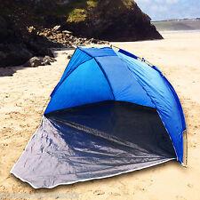 Tente de plage bleu porte soleil pluie vent Abri Festival Pêche Jardin ukhobbystore