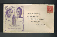 1946 Canada first day cover King George 6 Issue Cachet FDC KGVI