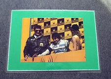 174A - FOTO/RITAGLIO PHOTO/CLIPPING 1983 - N. PIQUET G. COETZEE , KYALAMI 1983