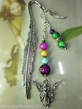 Beaded Bookmark Fairy Fairies Colours Handmade Silver Designs Gift Idea