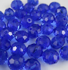 NEW Jewelry Faceted 30pcs Dark Blue #5040 6x8mm Roundelle Crystal Beads DIY J23