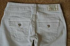 TRUE RELIGION BECKY Jeans 27X32 NWOT$300 Sexy White Wash Swarovski Jewels! USA