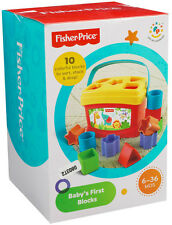 Fisher Price Brilliant Basics Baby's First Blocks! Shape Sorter Kid Learning!