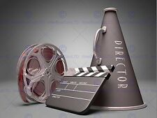 PHOTO FILM DIRECTOR EQUIPMENT CLAPPERBOARD REEL MEGAPHONE ART PRINT MP3919B